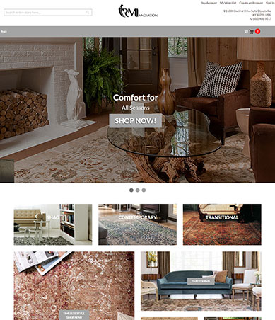 rm ecommerce for rug and home furnishings