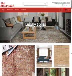 the rug place ecommerce site
